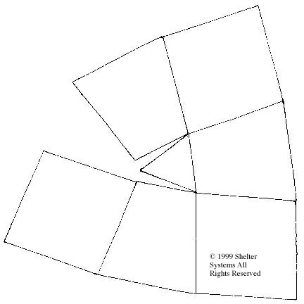 Paper Model of Shelter Systems' Domes, ArchDomes